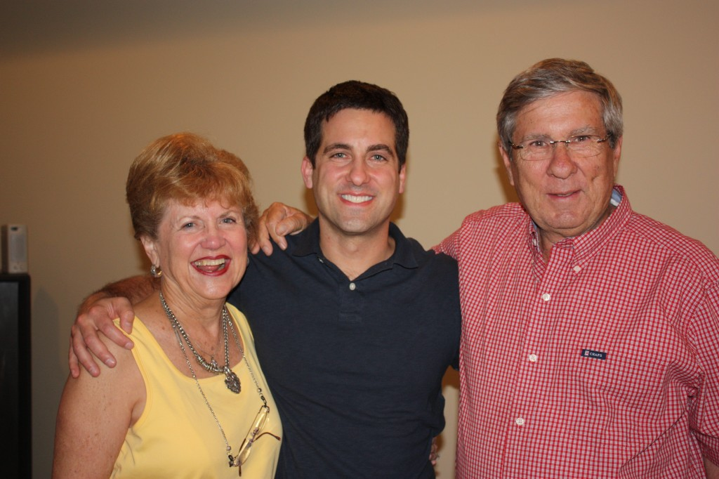 John Gunter with parents