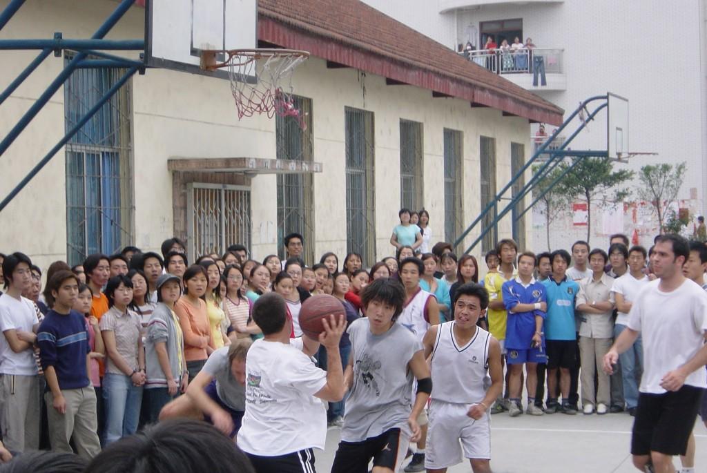 Chinese pick-up basketball