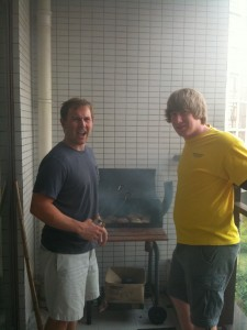 Meat Sunday. . . Chris and Tyler