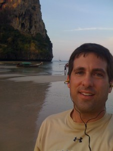 John Gunter on the beach in Thailand