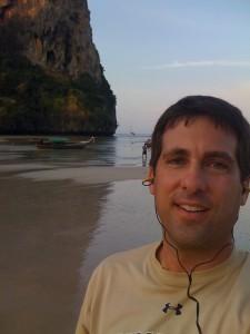 John Gunter on the beach in Thailand