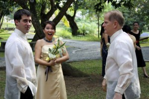 John Gunter at wedding in Manilla