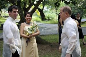 John Gunter at wedding in Manilla