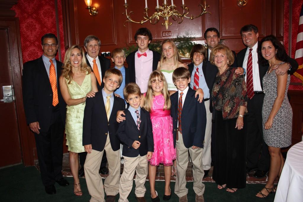 John Gunter and family at Mom and Dad's 50th wedding anniversary.