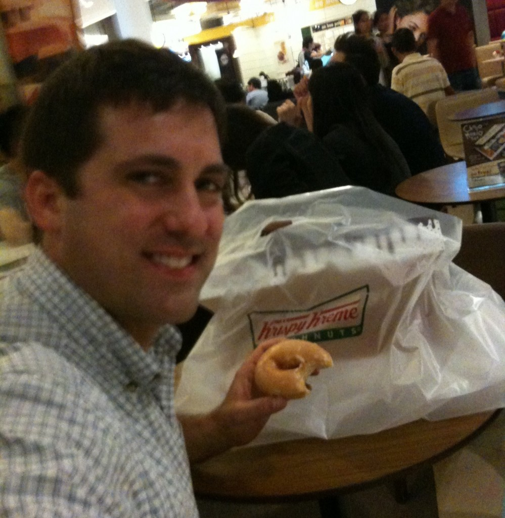John Gunter at Krispy Kreme in Bangkok, Thailand