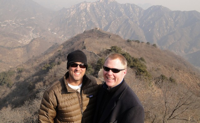 John Gunter and Rankin Wilbourne hiking