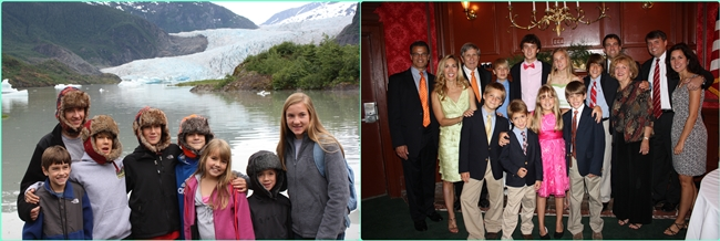 Our Alaskan cruise trip and our 50th wedding anniversary party for Mom and Dad in July.