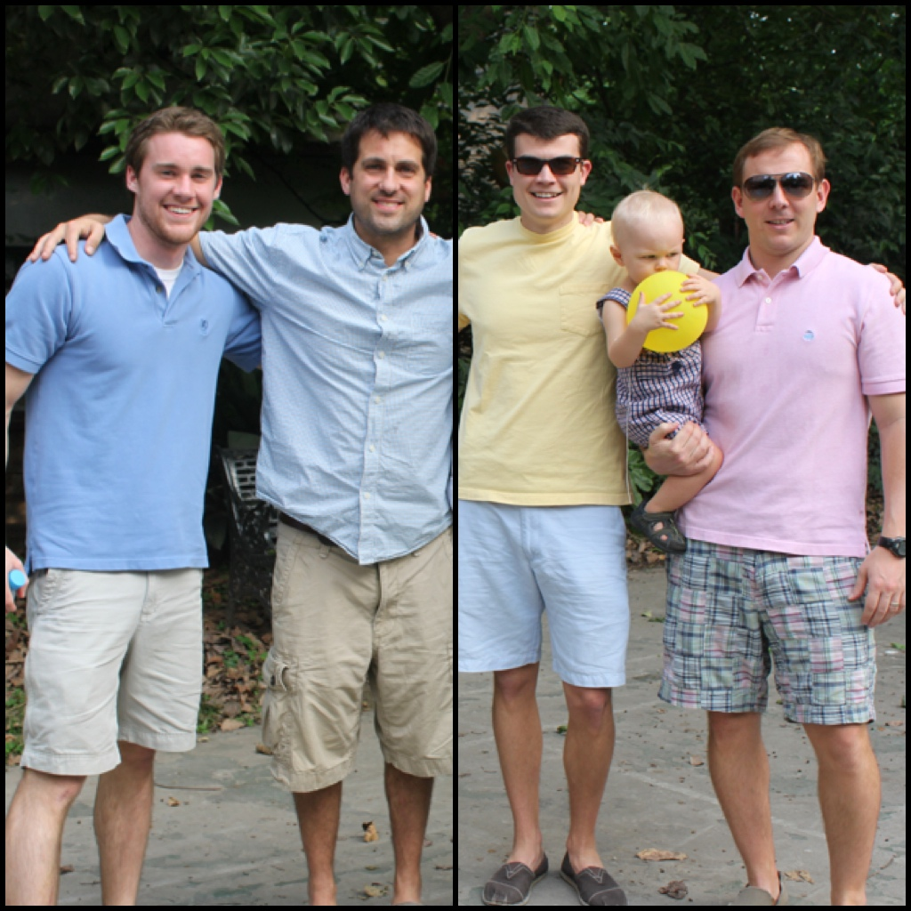 Some of the men I have been friends with here in Asia (Hughes Lowman, Scott Littlepage, and Chris Musgrove (with Maddox)