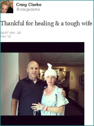 Craig and Tracey Clarke on her cancer