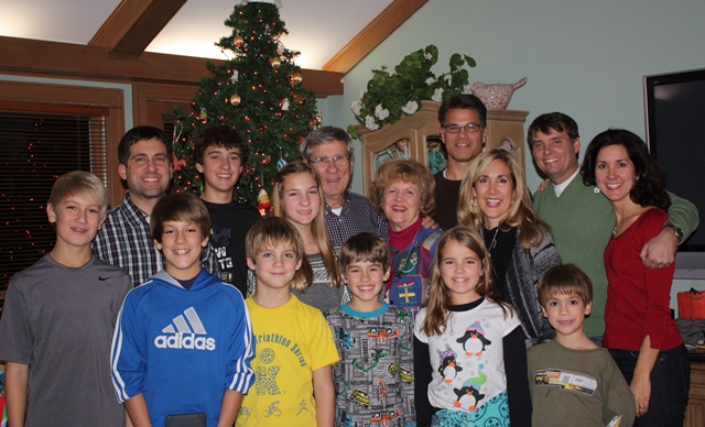 Christmas 2011. . . this was the entire family when I was home last year.  No doubt there will be the same photo taken tomorrow night.