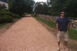 Me (with Craig Clarke) at the Sunken Road from the Battle of Fredericksburg. . .