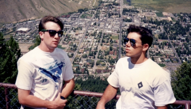 Phil Clarke and Troy Coons in Jackson Hole