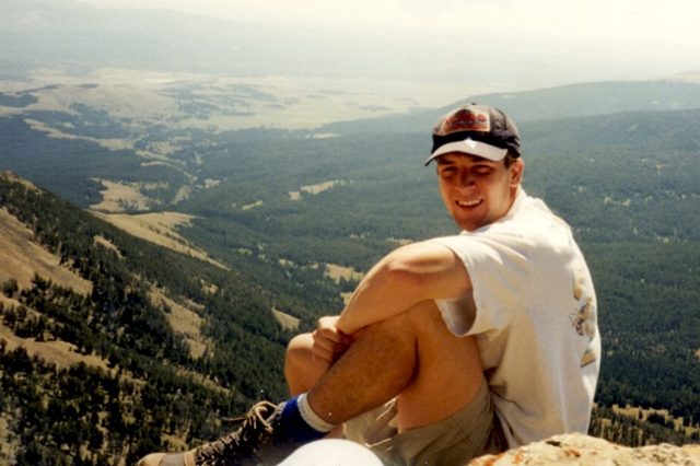 Photo of Phil Clarke while serving on a mission trip in Yellowstone National Park