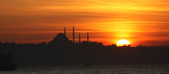 Picture of the Istanbul sunset while I was there two years ago