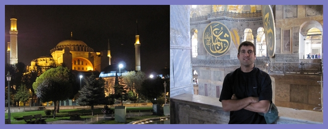 John Gunter at the Hagia Sophia in Istanbul
