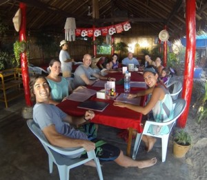 Some of the folks at Koh Lanta with me (at dinner)