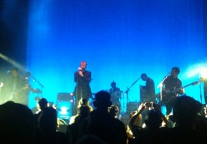 "I took this pic at the concert of my favorite band ""The National"""