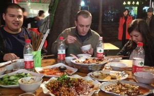 Eating with the visiting group from Atlanta two nights ago. . . the food, as always, was tremendous.