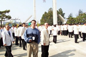 Me attending the world's largest church in Seoul, Korea in 2002 (looks a little cult-ish, but it really was great).