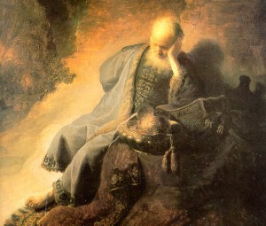 One of the Rembrandt's I saw that day in Amsterdam (Jeremiah Lamenting the Destruction of Jerusalem)