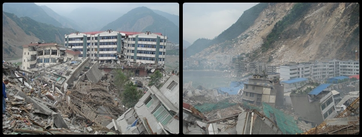 Pics taken by a friend two days after the big earthquake.