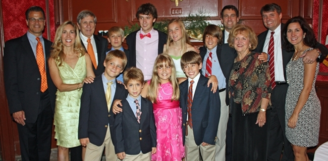 My entire family at Mom and Dad's 50th wedding anniversary last summer