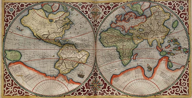 Cool world map from the 16th century