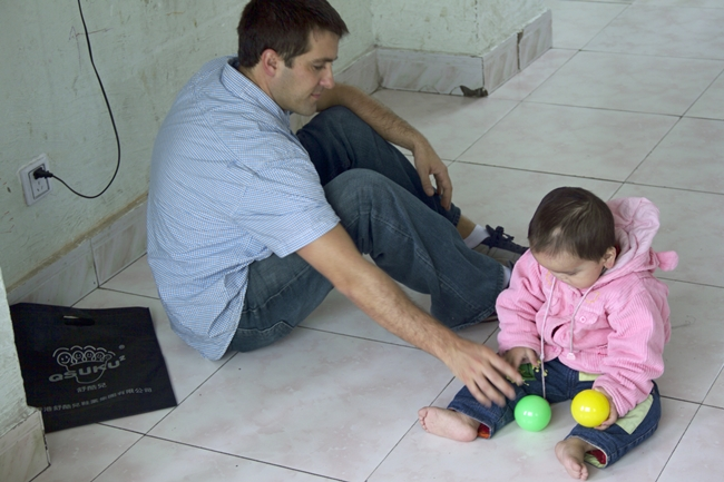 At an orphanage three years ago. . . only in the Bible do we find hope for situations such as this.