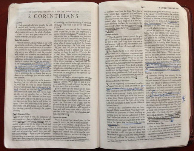 Thoughts on reading the Bible. . .
