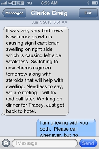 Unwanted text from Craig this morning.