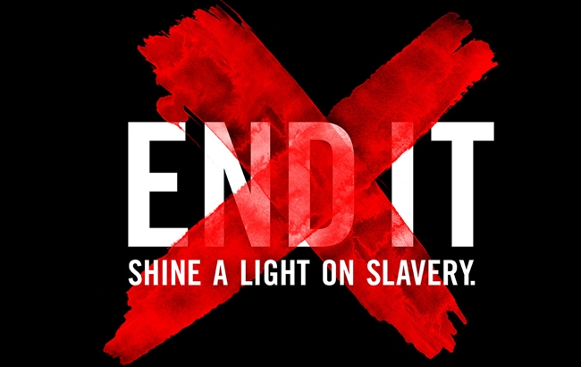 "One of the posters of the ""End it"" campaign to go again human trafficking."