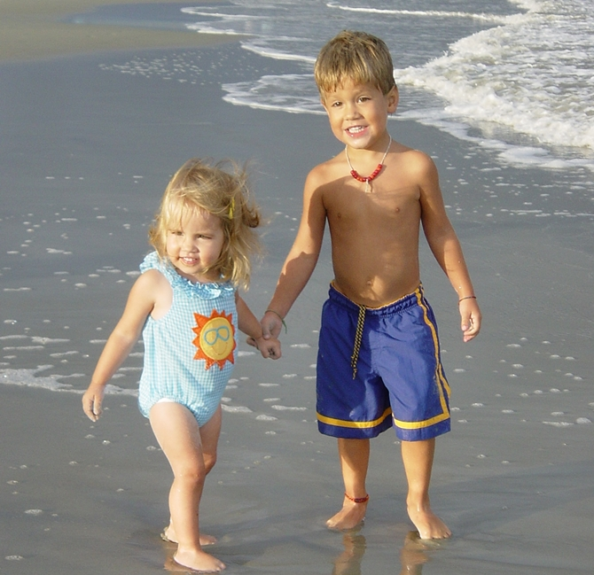 Here is Anna and Timothy at St. Simons in summer 2003