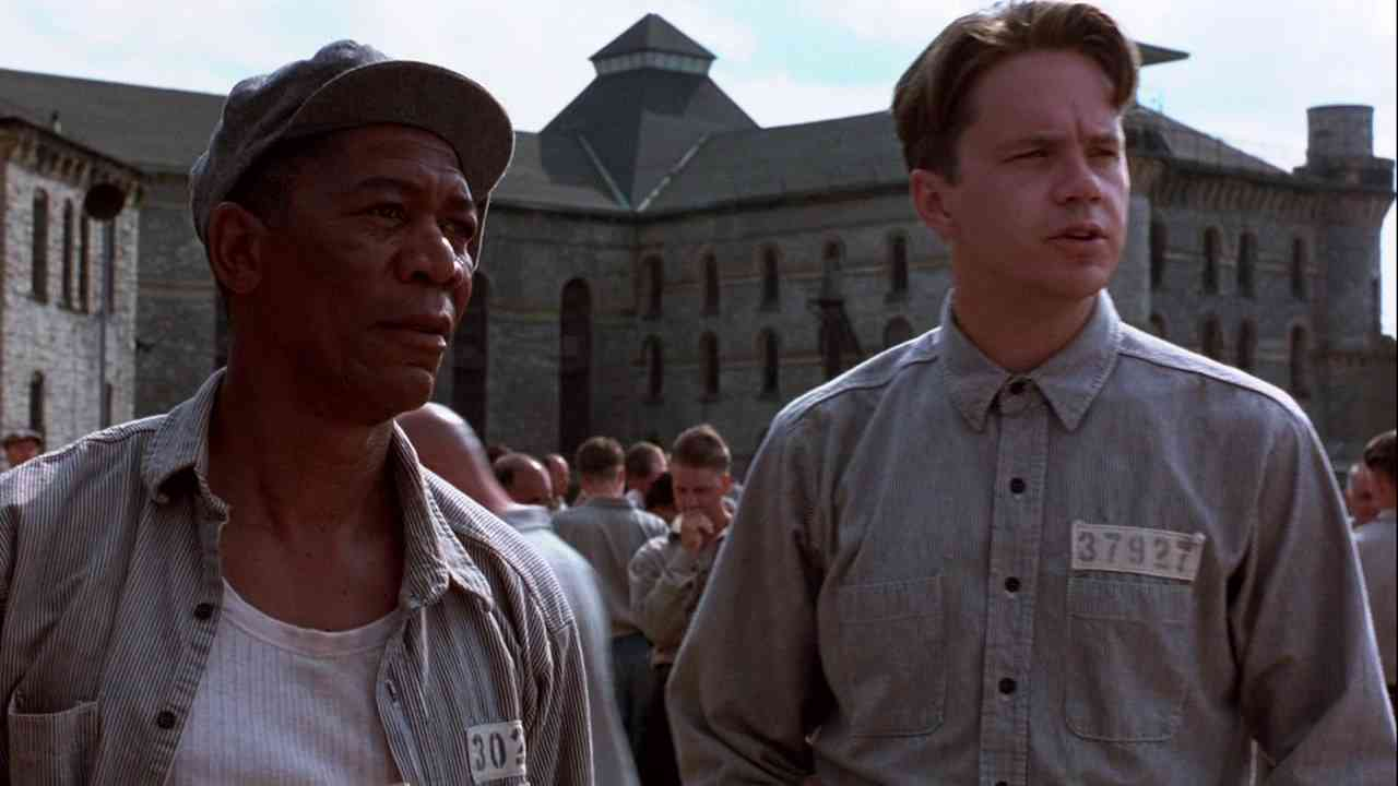 "Red and Andy from ""Shawshank Redemption"" , one of my favorite movies from around this time."