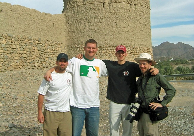 4 of the 5 with me for this trip to the Middle East (me, Ryan Perkins, Aaron Milam, & Ed Graham).  I don't know where Robert Harrison was for this pic!