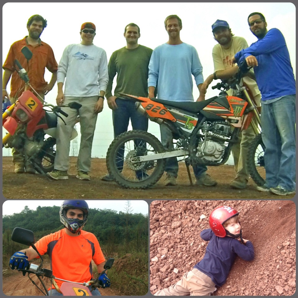 John Gunter and friends dirt biking in Asia