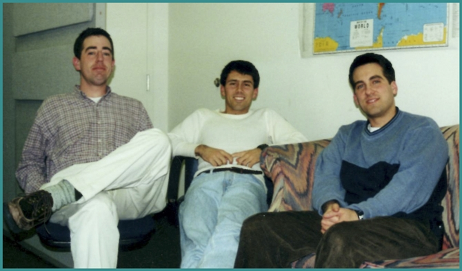 """Phil Autry, Troy Coons, and I during our marathon """"taping session"""" two days after Philip Clarke's passing."""