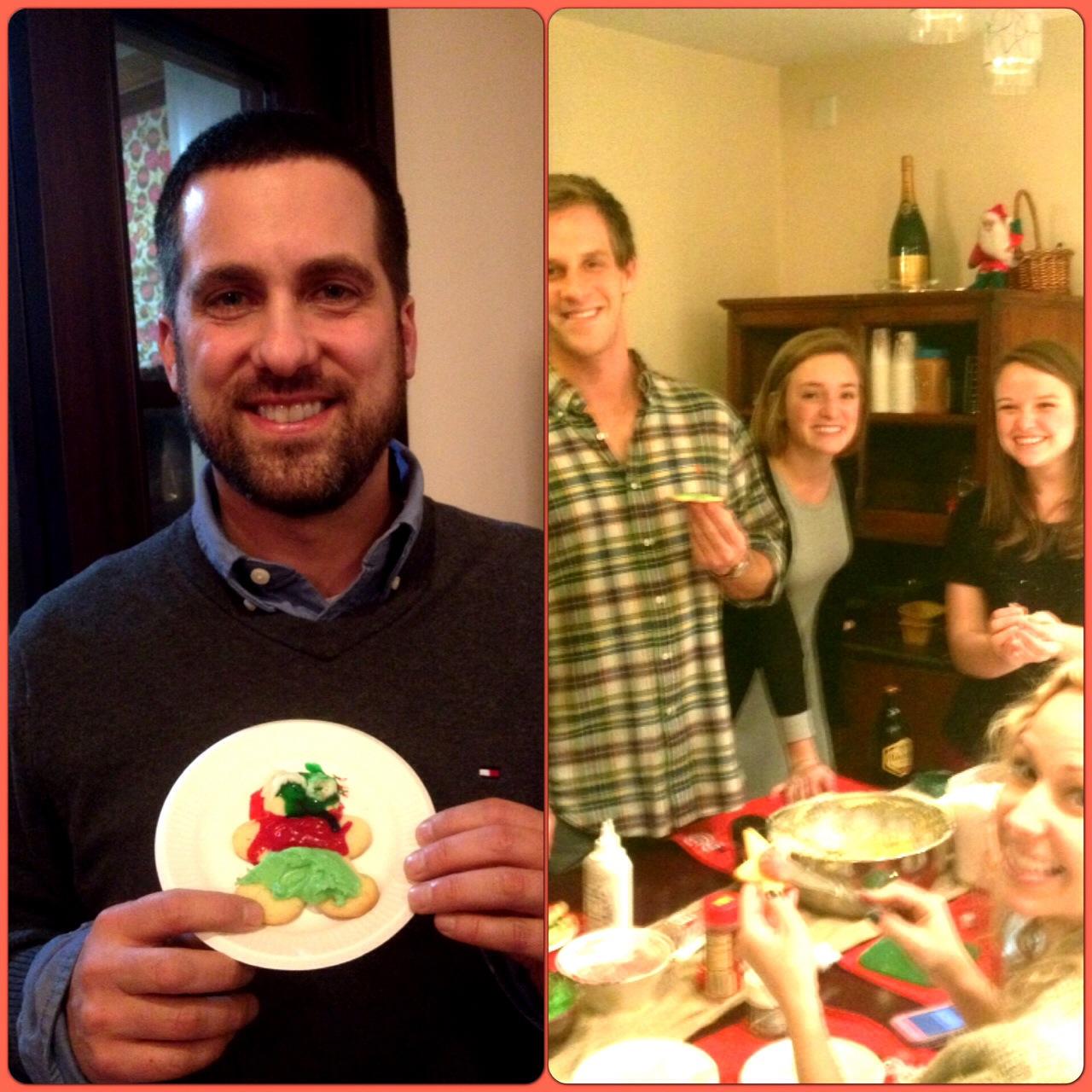 John Gunter with Tyler Lueck, Emily Crane, Kathleen Kimbrough, and Sarah Strong on Christmas Eve.
