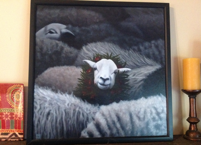 "Here is Tracey Clarke's ""Chosen"" hanging in the owner's house."