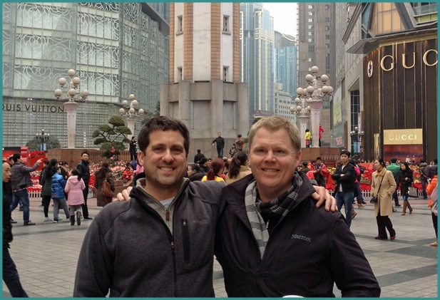 Rankin Wilbourne with John Gunter in Asia