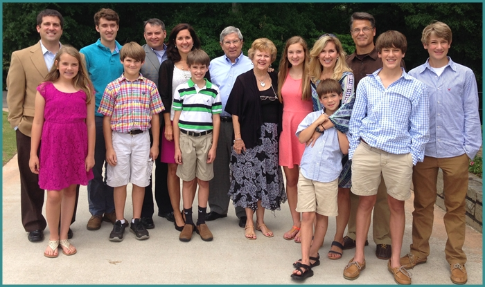 The entire Gunter family at Mother's Day 2014