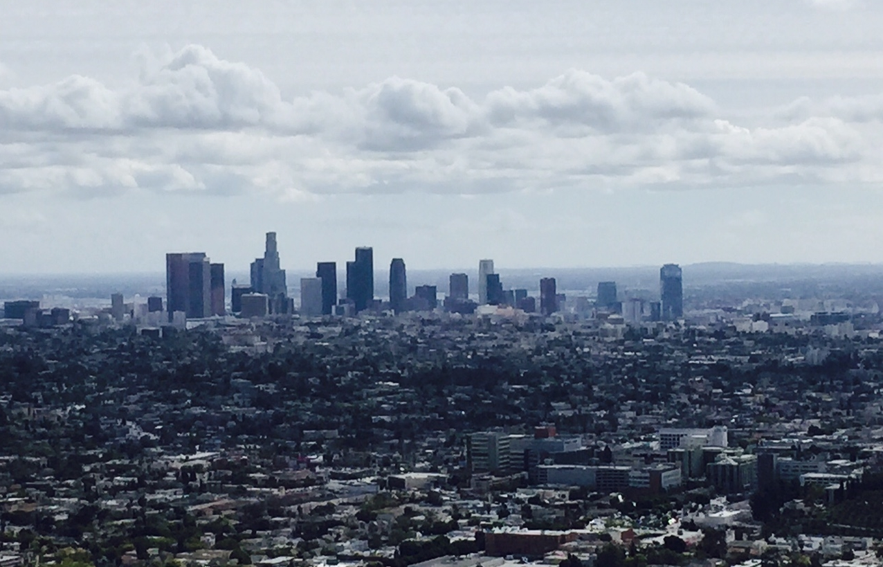Los Angeles skyline from Runyon Canyon